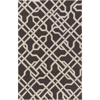Daigle Hand-Crafted Slate Area Rug Rug Size: Rectangle 76 x 96