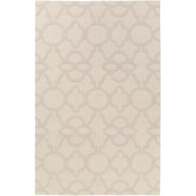 Sandi Hand-Crafted Ivory Area Rug Rug Size: Rectangle 8 x 11