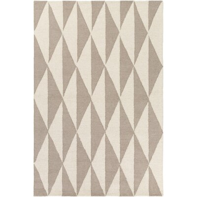 Hilda Sonja Hand-Crafted Gray/Light Gray Area Rug Rug Size: 8 x 11