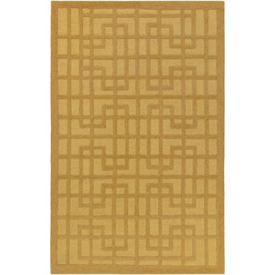 Rufina Hand-Crafted Gold Area Rug Rug Size: Runner 23 x 10