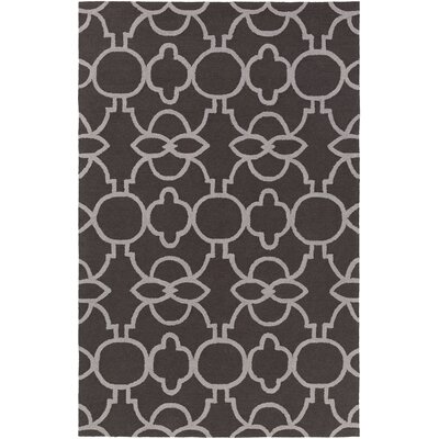 Sandi Hand-Crafted Slate/Gray Area Rug Rug Size: Rectangle 76 x 96