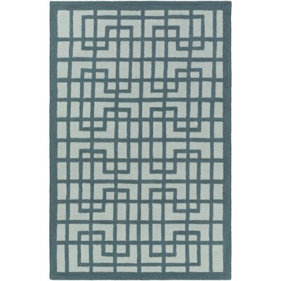 Rufina Hand-Crafted Teal/Mint Area Rug Rug Size: Rectangle 76 x 96
