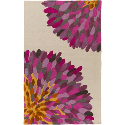 Kuhl Hand-Tufted Pink/Light Gray Area Rug Rug Size: Rectangle 8' x 10'