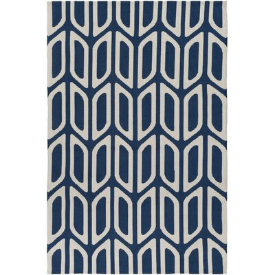 Blohm Navy Blue Area Rug Rug Size: Rectangle 76 x 96