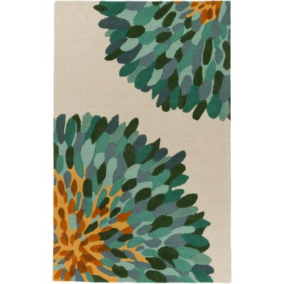 Kuhl Hand-Tufted Teal/Gray Area Rug Rug Size: Rectangle 5' x 8'