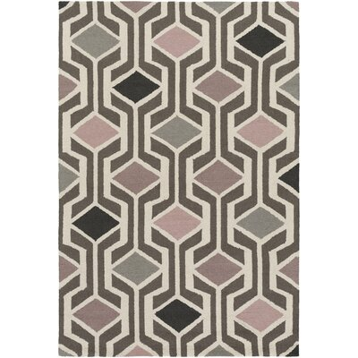 Younkin Hand-Crafted Mauve Area Rug Rug Size: Rectangle 3 x 5