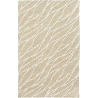 Arise Willa Hand-Tufted Beige/Ivory Area Rug Rug Size: 9 x 13