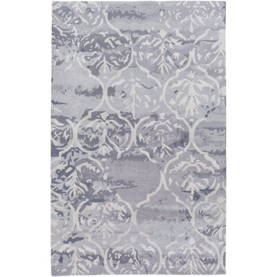 Dilorenzo Hand-Tufted Slate Gray/Beige Area Rug Rug Size: Rectangle 4 x 6