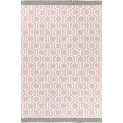 Hilda Eva Hand-Crafted Light Pink/Gray Area Rug Rug Size: 8 x 11