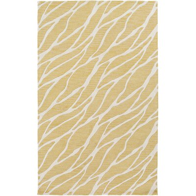 Blewett Hand-Tufted Gold/Ivory Area Rug Rug Size: Rectangle 5 x 8