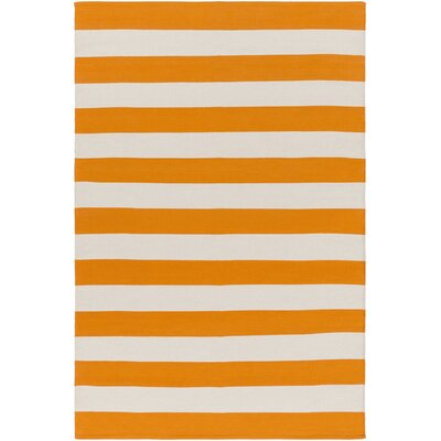 City Park Lauren Handmade Orange/Ivory Area Rug Rug Size: 4 x 6