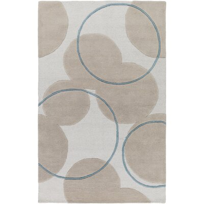 Labarbera Hand-Tufted Beige/Teal Area Rug Rug Size: Rectangle 8 x 10