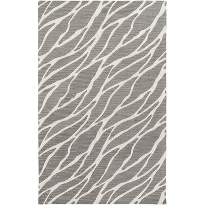 Blewett Hand-Tufted Gray/Ivory Area Rug Rug Size: Rectangle 5 x 8