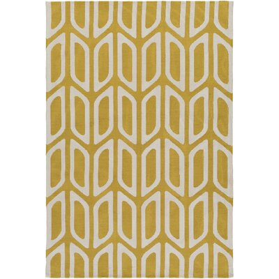 Blohm Hand Tufted Yellow Area Rug Rug Size: Rectangle 76 x 96