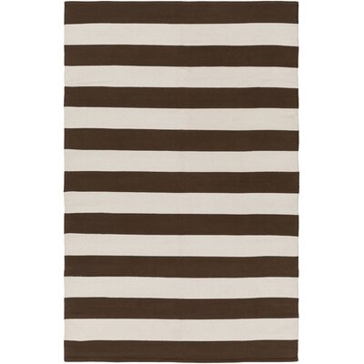 City Park Lauren Handmade Brown/Ivory Area Rug Rug Size: 8 x 10