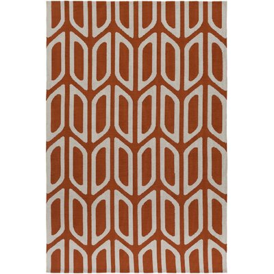 Blohm Orange Area Rug Rug Size: Rectangle 76 x 96