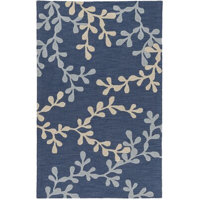 Coutu Hand-Tufted Blue/Slate Area Rug Rug Size: Rectangle 5' x 8'