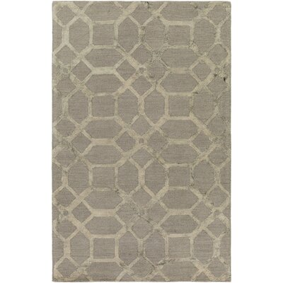 Glenmore Hand-Tufted Gray Area Rug Rug Size: Rectangle 9 x 13