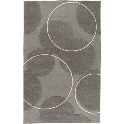 Labarbera Hand-Tufted Gray/Ivory Area Rug Rug Size: Rectangle 5 x 8