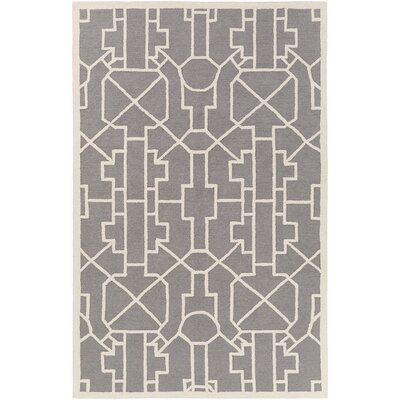 Marigold Leighton Hand-Crafted Gray Area Rug Rug Size: 3 x 5