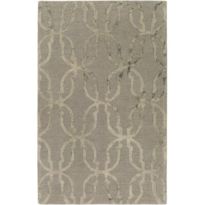 Glennon Hand-Tufted Slate Gray/Beige Area Rug Rug Size: Rectangle 9 x 13