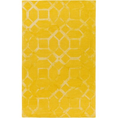 Glenmore Hand-Tufted Sunflower Area Rug Rug Size: Rectangle 5 x 8