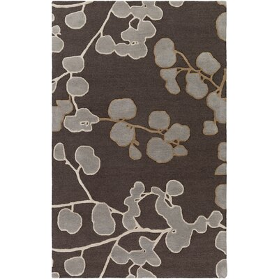 Venus Scarlett Hand-Tufted Brown/Gray Area Rug Rug Size: 5 x 8