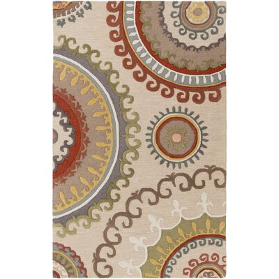 Costanzo Hand-Tufted Ivory Area Rug Rug Size: Rectangle 4 x 6