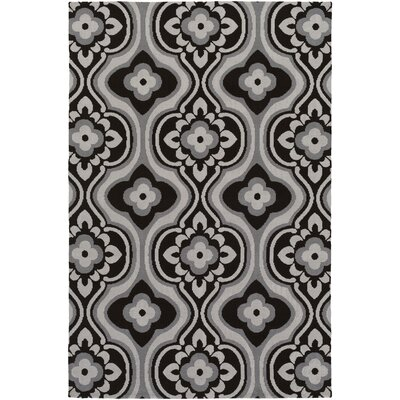 Joan Kingsbury Black/Gray Area Rug Rug Size: 7'6