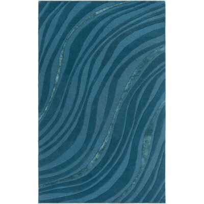 Lounge Carmen Hand-Tufted Teal/Dark Blue Area Rug Rug Size: Runner 2 x 8