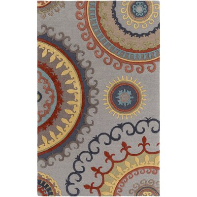 Lounge Alanna Hand-Tufted Gray Area Rug Rug Size: 5 x 8