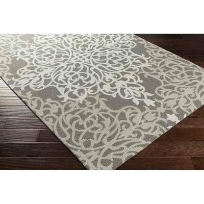 Kerner Hand-Tufted Beige/Gray Area Rug Rug Size: Rectangle 5 x 8