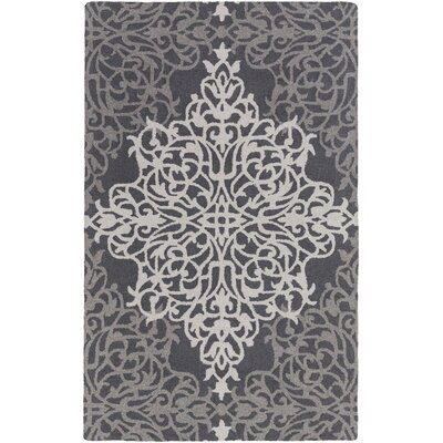 Kerner Hand-Tufted Gray/Beige Area Rug Rug Size: Rectangle 4 x 6