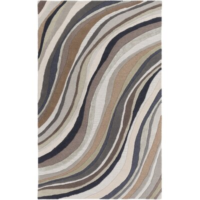 Lounge Carmen Hand-Tufted Brown/Gray Area Rug Rug Size: 4 x 6