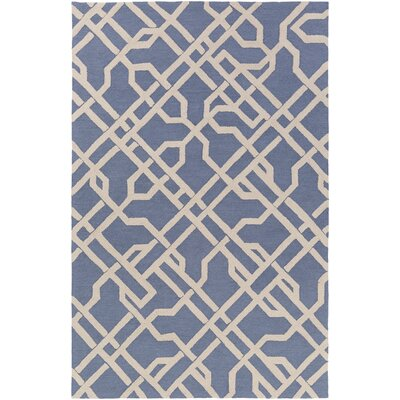 Daigle Hand-Crafted Denim Blue Area Rug Rug Size: Rectangle 76 x 96