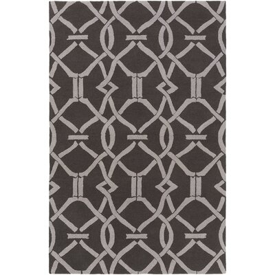 Dyess Hand-Crafted Slate/Gray Area Rug Rug Size: Rectangle 3 x 5