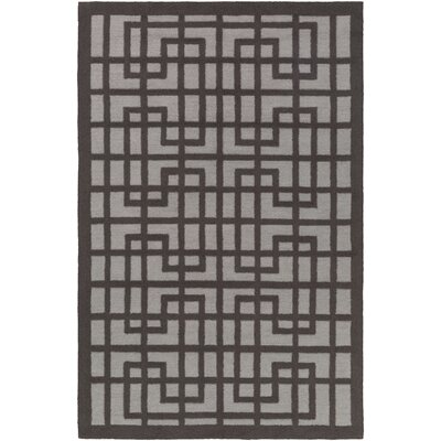 Rufina Hand-Crafted Slate/Gray Area Rug Rug Size: Rectangle 3 x 5