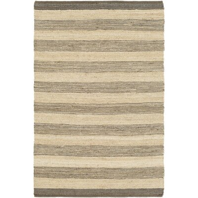 Ayling Hand-Woven Gray/Natural Area Rug Rug Size: Rectangle 4 x 6