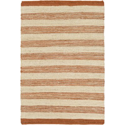 Portico Lexie Hand-Woven Rust/Natural Area Rug Rug Size: Runner 23 x 12