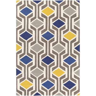 Hilda Gisele Hand-Crafted Blue/Gray Area Rug Rug Size: 8 x 11