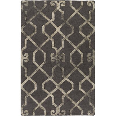 Sandhill Hand-Tufted Charcoal/Beige Area Rug Rug Size: Rectangle 4 x 6