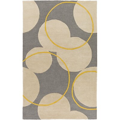 Labarbera Hand-Tufted Gray/Beige Area Rug Rug Size: Rectangle 5 x 8