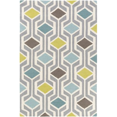 Younkin Hand-Crafted Teal/Aqua Area Rug Rug Size: Rectangle 76 x 96