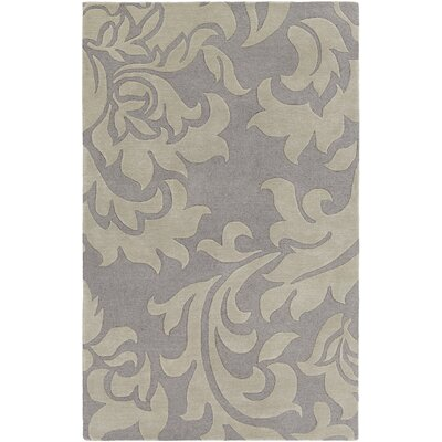 Kiesel Hand-Tufted Silver/Gray Area Rug Rug Size: Rectangle 5 x 8