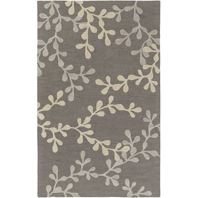 Coutu Hand-Tufted Pewter/Slate Area Rug Rug Size: Rectangle 5 x 8