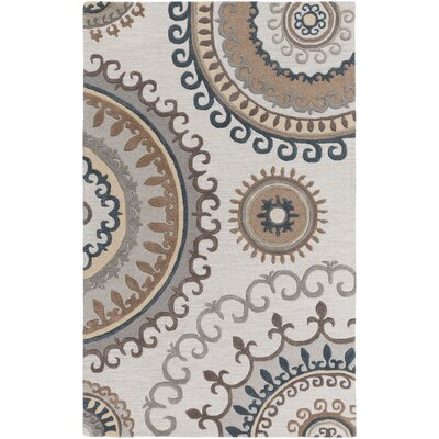 Costanzo Hand-Tufted Beige/Gray Area Rug Rug Size: Rectangle 5 x 8