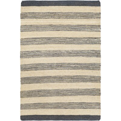 Portico Lexie Hand-Woven Navy/Natural Area Rug Rug Size: Runner 23 x 10