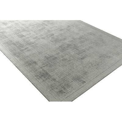 Natalie Hand-Loomed Charcoal Area Rug Rug Size: Rectangle 5 x 76