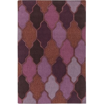 Galya Purple Area Rug Rug Size: Rectangle 76 x 96