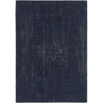 Mcintosh Hand Woven Navy/Gray Area Rug Rug Size: Rectangle 5 x 8
